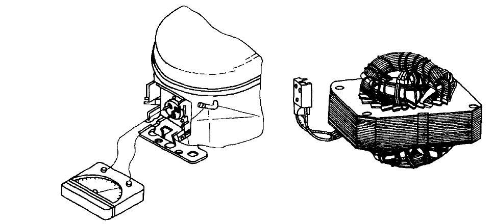 用万用表测试氙灯试验箱压缩机绕组阻值的方法